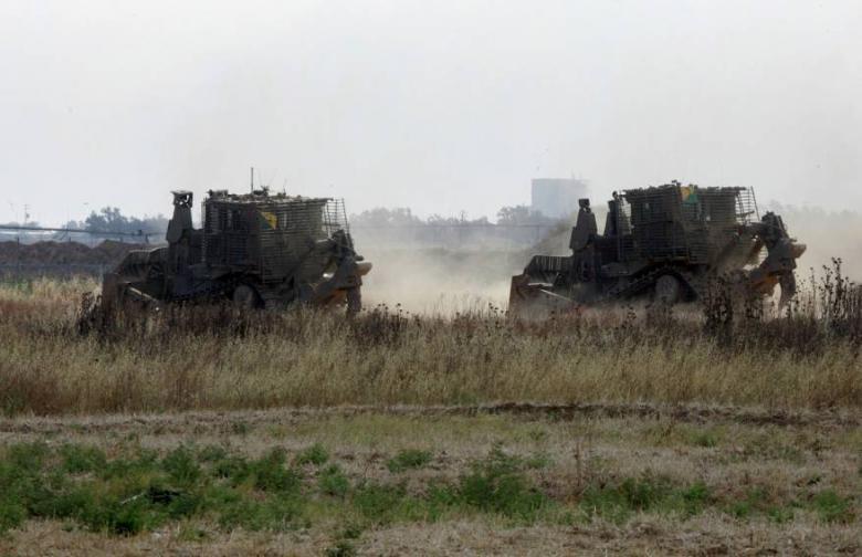 توغل 6 جرافات إسرائيلية شمال قطاع غزة