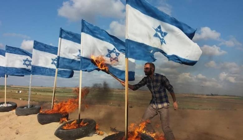 """جماهير غزة تتجهز لـ """"جمعة حرق العلم الصهيوني"""""""
