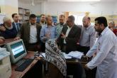 مراقب الداخلية يتفقد العمل في معبر بيت حانون