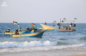 مواجهات الحراك البحري السادس عشر شمال قطاع غزة