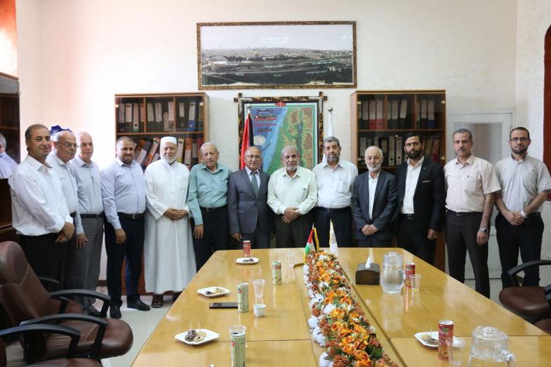 التغيير والاصلاح تلتقي رئيس وأعضاء مجلس بلدية غزة