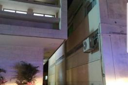 """سقوط صاروخ  على مبنى في """"سديروت"""""""