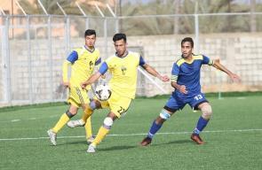 مباراة خدمات دير البلح وبيت حانون الرياضي في دوري الأولى