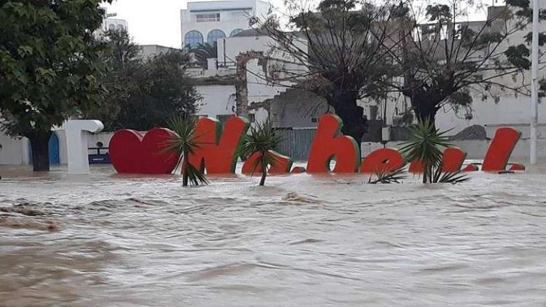 فيضانات مرعبة تضرب تونس وتخلف خسائر بشرية ومادية