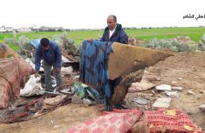 الأضرار الجسيمة التي لحقت بأراضي المواطنين شرقي محافظة خانيونس