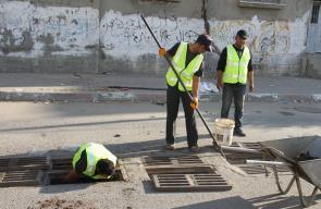 استعدادات بلدية دير البلح لفصل الشتاء