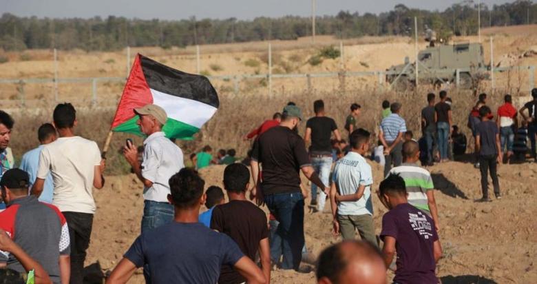 55 إصابة بقمع الاحتلال للمشاركين في مسيرة العودة