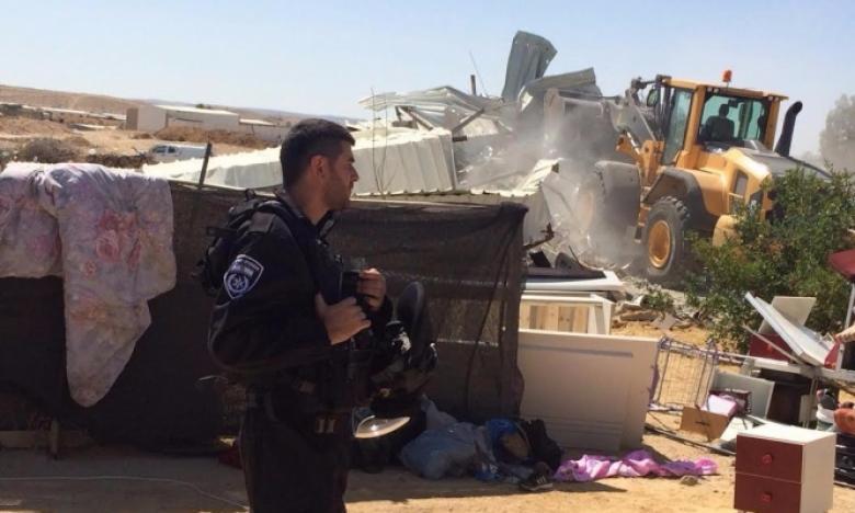 الاحتلال يهدم غرفة زراعية ويدمر أشجارًا جنوب نابلس
