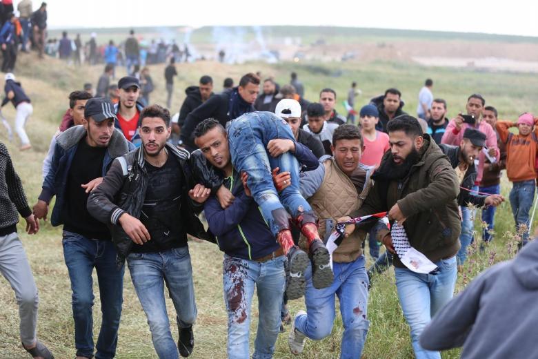 4 إصابات برصاص الاحتلال شرق مخيم البريج