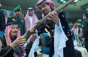 أول لقاء علني يجمع الملك سلمان بالأميرين الوليد ومتعب