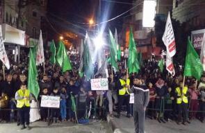 انطلاق مسيرة حماس في رفح نصرة للقدس للأقصى