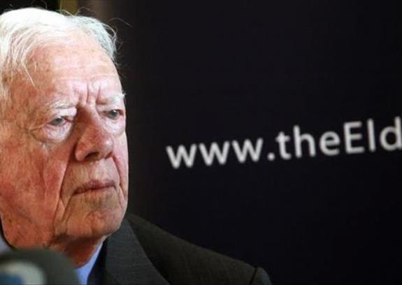 """""""كارتر"""" يحذر من اندلاع حرب بغزة تكون عواقبها كارثية"""