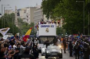 احتفالات ريال مدريد بلقب دوري الأبطال الـ11