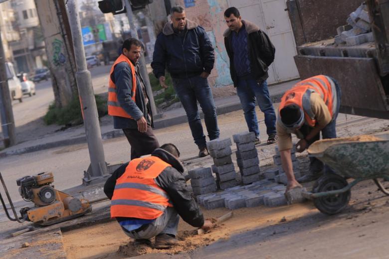 بلدية غزة تنجز صيانة 40 موقعاً خلال مايو الماضي