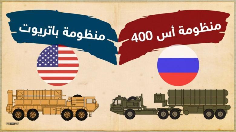 """أيهما أقوى: """"الباتريوت"""" الأميركية أم """"إس 400"""" الروسية؟"""