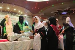 الكتلة الإسلامية بدير البلح تكرم الطالبات المتفوقات