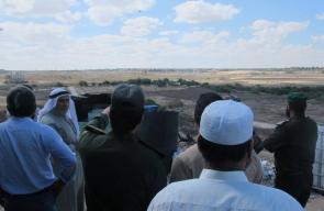 وجهاء غزة يتفقدون العمل على الحدود الفلسطينية المصرية