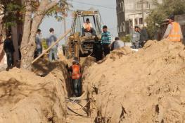 """بلدية خانيونس تشرع بإنشاء شبكة مياه بمنطقة """"العرايشية"""""""