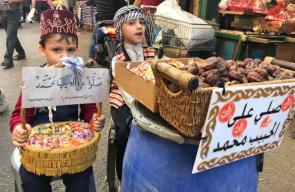 الفلسطينيون يحتفلون بذكرى المولد النبوي