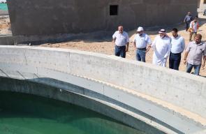 رؤساء بلديات الوسطى يتفقدون محطة الصرف الصحي