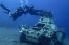 متحف عسكري في قاع خليج العقبة بالأردن