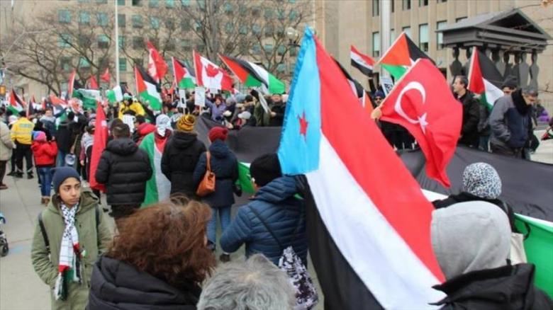 تظاهرات في تركيا والجزائر والسودان ضد قرار ترامب