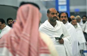 وصول الحجاج للسعودية