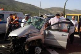 حادث سير بين مركبتين إسرائيلية وفلسطينية قرب البحر الميت