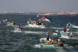إصابات برصاص الاحتلال في المسير البحري الـ15 شمال القطاع