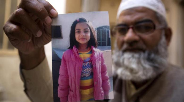 """الإعدام لقاتل الطفلة """"زينب"""" بعد اغتصابها في باكستان"""