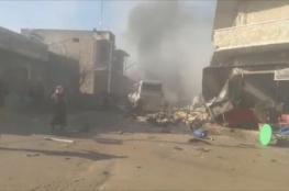 عشرات الضحايا بغارات في إدلب والمعارك تتواصل بحلب