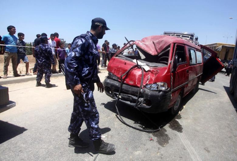 إصابات في حادث سير بخانيونس