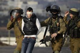 الاحتلال يعتقل شابا من قرية عوريف بنابلس
