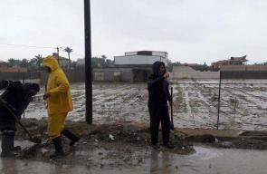أعمال لجان الطوارئ في مواجهة المنخفض الجوي بالوسطى