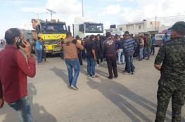 """لليوم الثاني.. شركات النقل تعلق العمل بمعبر """"كرم أبو سالم"""""""