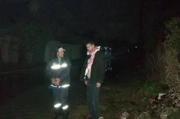 رئيس بلدية الزوايدة يتفقد لجان طوارئ المنخفض الجوي
