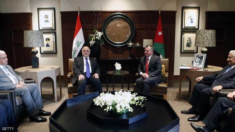 """العبادي يبحث """"الحرب على الإرهاب"""" في الأردن"""