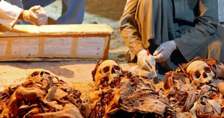 صورة| لأول مرة عرض مومياء مصرية ذات رأسين للجمهور