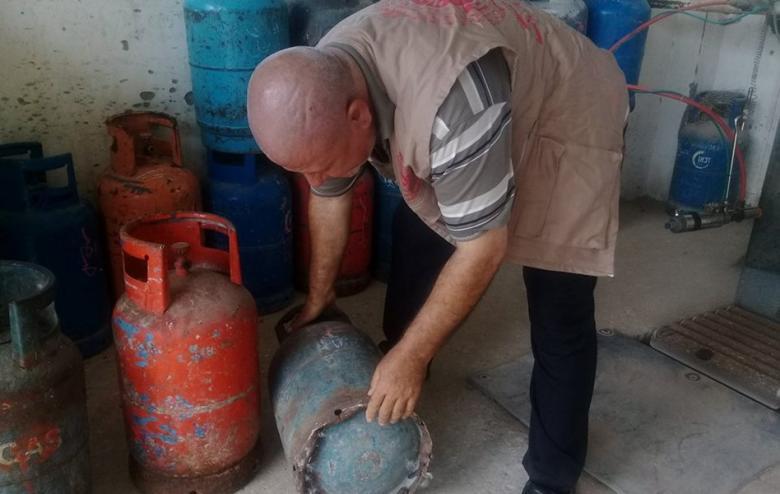 إجراء حملات تفقد وتفتيش لمخابز ومحطات الغاز بغزة