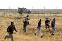 الاحتلال يطلق النار تجاه شبان جنوب القطاع