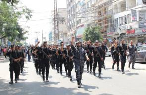 الداخلية تُنظم استعراضاً عسكرياً تضامناً مع المسجد الأقصى