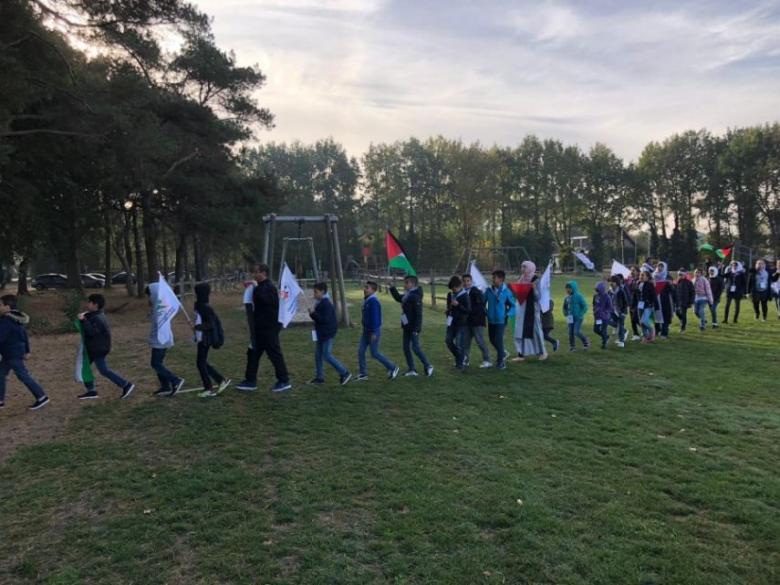 مخيم للكشاف الفلسطيني في هولندا