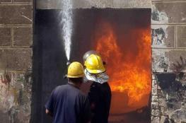 إصابة مواطن بالاختناق إثر حريق بمنزله في جنين