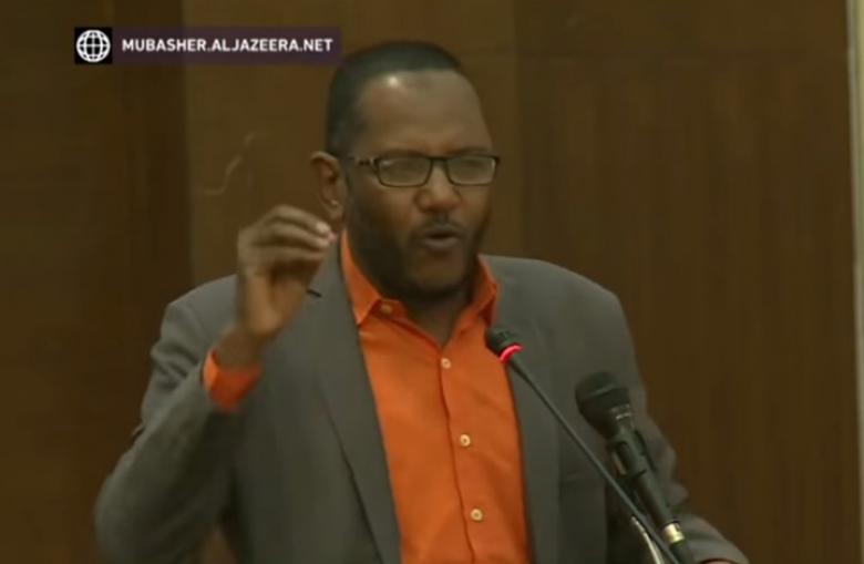 اعتقال رئيس حزب سوداني هتف ضد ابن زايد ودحلان