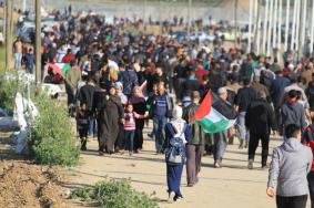 97 إصابة جراء قمع الاحتلال للمشاركين في مسيرات العودة