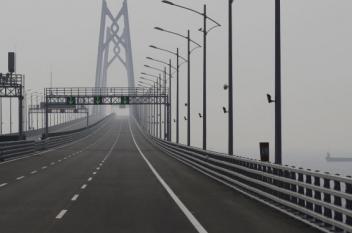 انهيار جسر يربط روسيا والصين