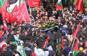 تشييع جثامين شهداء رام الله ظهر اليوم