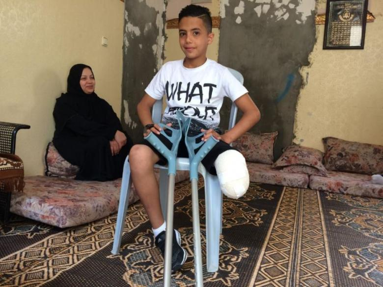 تقرير حقوقي: الاحتلال يسعى لتحويل أطفال فلسطين لمعاقين