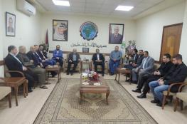 جمعية رجال الأعمال تستقبل وفداً من الوطنية موبايل بمقرها بغزة