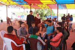 انتخاب برلمان للأطفال في خان يونس